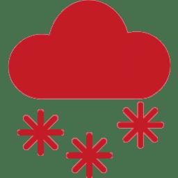Icon Wolke mit Schneeflocken